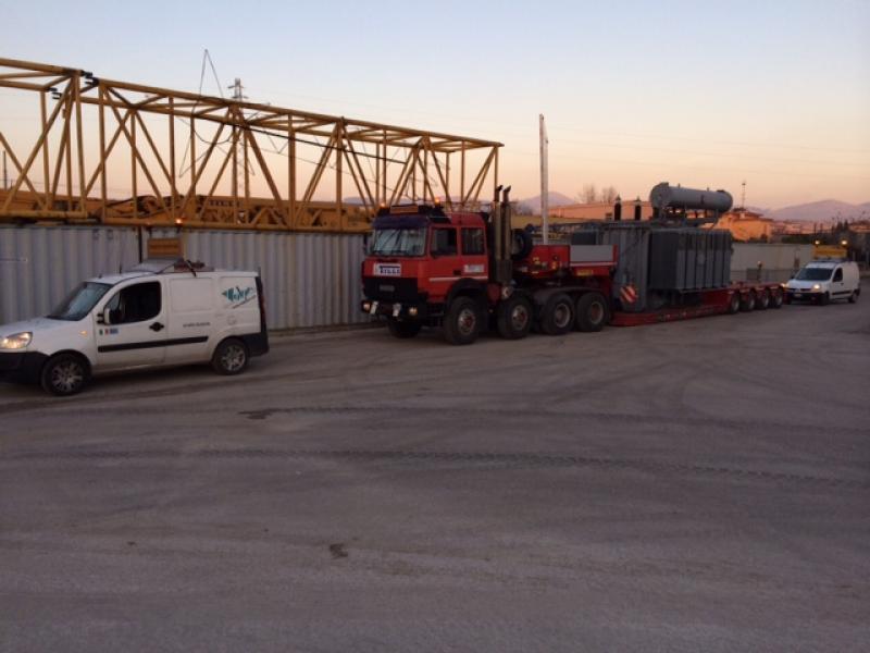 trasporto trasformatore  peso 80 ton.